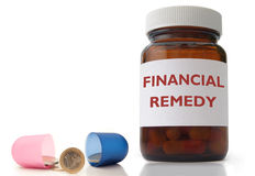 Financial remedy Stock Images