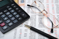 The financial report Stock Photos