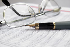 Financial report Stock Photos