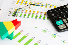 Financial report Stock Images