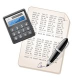 Financial Report. Vector illustration of financial report Stock Images