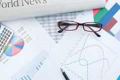 Financial report Royalty Free Stock Photos
