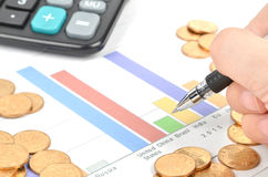 Financial report Stock Image