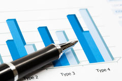 Financial report. Financial paper charts and graphs Royalty Free Illustration