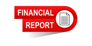 Financial report banner. Icon on isolated white background - vector illustration Royalty Free Stock Photos