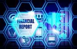 Financial Report blue background model concept. Financial Report blue background concept model Stock Photo