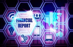 Financial Report blue background model concept. Financial Report blue background concept model Stock Images