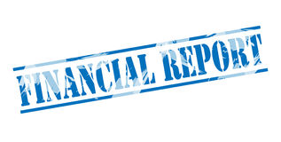 Financial report blue stamp. Isolated on white background Stock Photography