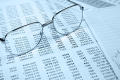 The financial report. Blue tone Stock Photography