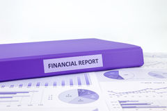 Financial report and business graph analysis Royalty Free Stock Photography