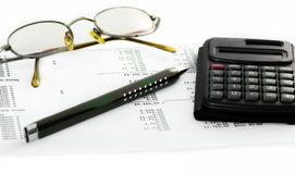 Financial report in Department of Accounting, Reporting and Analysis  Royalty Free Stock Images
