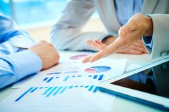 Financial report Stock Photos