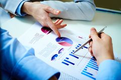 Financial report royalty free stock images