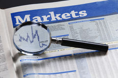 Financial report Stock Photography