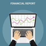 Financial report concept. Flat design. Financial report concept. Flat style vector Royalty Free Stock Images