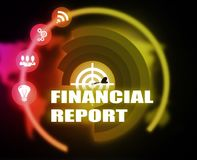 Financial Report concept plan graphic. 2018 Royalty Free Stock Images