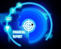 Financial Report concept plan graphic. 2018 Royalty Free Stock Photography