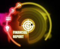 Financial Report concept plan graphic. 2018 Royalty Free Stock Photos
