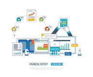 Financial report, consulting, teamwork, project management and development. Investment business. Concepts for business analysis, financial statement, consulting Stock Image