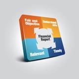 Financial Report Diagram. Vector illustration format Stock Image