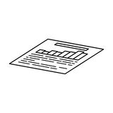 Financial report document. Icon  illustration graphic design Royalty Free Stock Photo