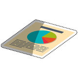 Financial report document. Icon  illustration graphic design Royalty Free Stock Images
