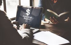 Financial Report Dollar Sign Go Concept Stock Photography