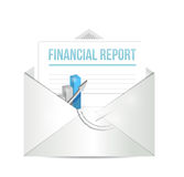 Financial report envelope illustration design Stock Photos