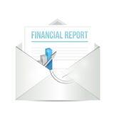 Financial report envelope illustration design Stock Photos