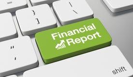 Financial report. Text written on keyboard button Stock Photos