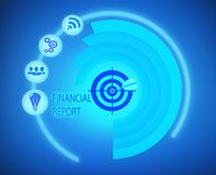 Financial Report graph information. Data Royalty Free Stock Images