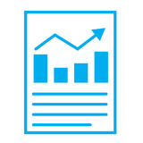 Financial report or income statement icon on white background. Stock Photo