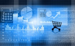Financial report market. Business background Stock Photography