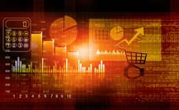 Financial report market. Business background Stock Photos