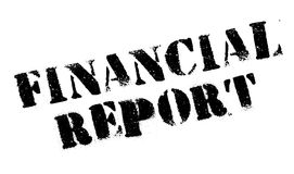 Financial Report rubber stamp Royalty Free Stock Photography