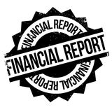 Financial Report rubber stamp Stock Photography