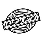 Financial Report rubber stamp Stock Photos