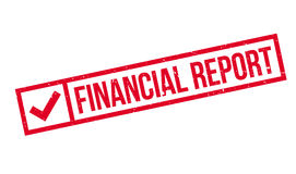 Financial Report rubber stamp Royalty Free Stock Image