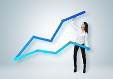 Financial report & statistics. Business success concept. royalty free stock images