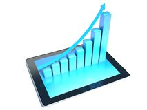 Financial report & statistics. Graph. Isolated white Stock Photos