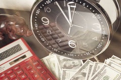 Financial report. time is money and wealth. concept of time and money Stock Photography