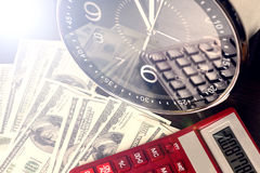 Financial report. time is money and wealth. concept of time and money Stock Image