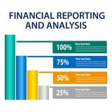 Financial Reporting And Analysis, green process icon with bar chart. EPS file available. see more images related Stock Photos