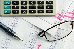 Financial reports. Royalty Free Stock Images