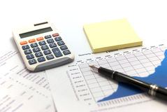 Financial Reports Stock Image