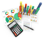 Financial Reports. Royalty Free Stock Image