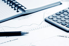 Financial reports and accounting Stock Photography