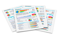 Financial reports stock illustration