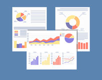 Financial reports and documents. Stock Image