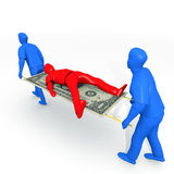Financial Rescue. An illustration related to bankruptcy and debt settlements Stock Images